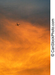 Flying into the Sunset - plane