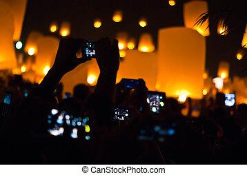 Flying Lanterns Selfie