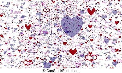 Flying Love Hearts Animation