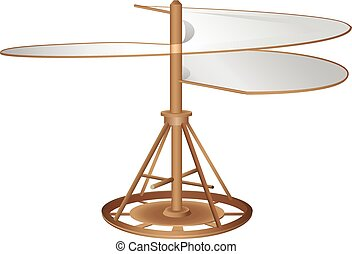 Flying machine - The prototype aircraft type helicopter....
