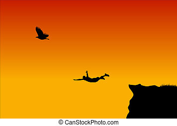 Flying men - Jumping men  in during SunS
