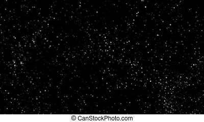 Flying microparticles of rounded shape on a black background HD 1920