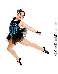 Flying Modern Ballet Dancer Child