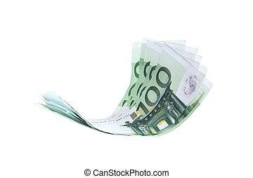 Flying money notes, euro