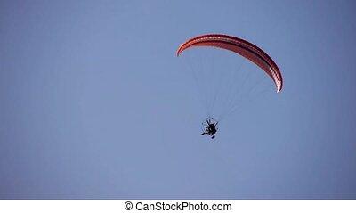 flying motor paraglider