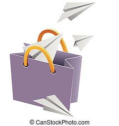 Flying object in shop bag-02