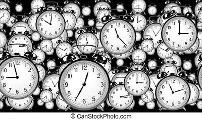 Flying old clocks