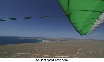 Flying on motorized hang glider Tarhankut, Crimea. Canon EOS...
