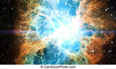 Flying out of the Crab Nebula