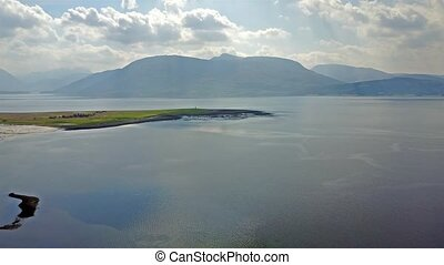 Flying over Loch Linnhe at Sallachan Point with the view...