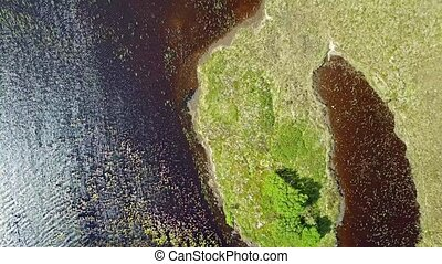 Flying over Loch na Crannaig, Ardnamurchan, Scotland