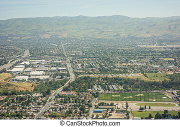 flying over san jose california