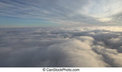 Flying over sky