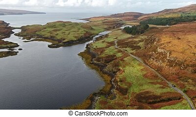 Flying over the beautiful west coast close to Dunvegan...