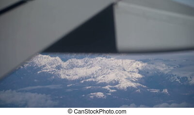 Flying over the mountains