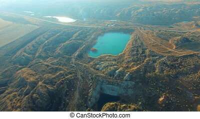 Flying Over The Ore Quarry