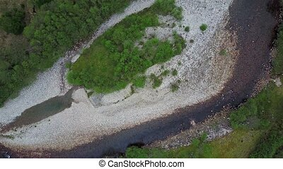 Flying over the river Nevis