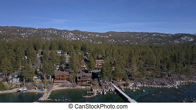 Flying over the surface of Lake Tahoe - Flying over the Lake...