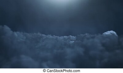Flying over thunderclouds watch HD