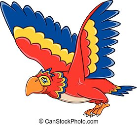 Flying Parrot Cartoon