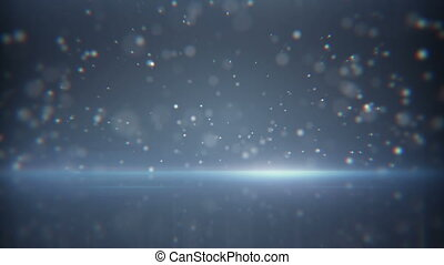 flying particles and reflection loop background