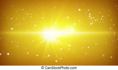 flying particles yellow loopable background