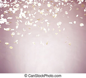 Flying petals with pinky background