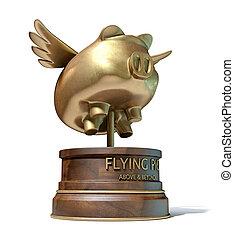 Flying Pig Trophy Award