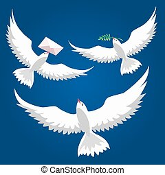 Flying Pigeons set