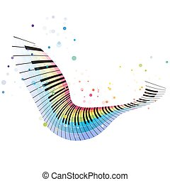 Flying rainbow piano