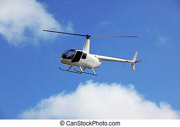 flying rescue helicopter
