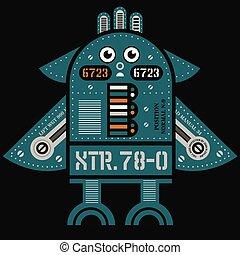 Flying robot illustration