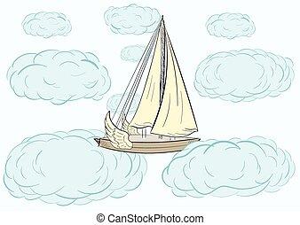 Flying sailboat