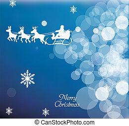 Flying Santa Background