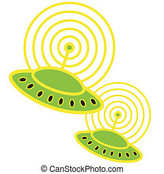 Flying Saucer Alien Spaceship - Flying saucer, alien...