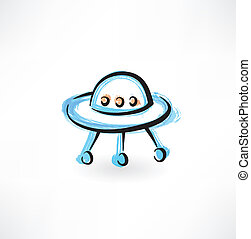 flying saucer grunge icon