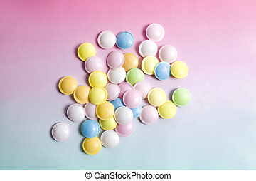 flying saucer multi coloured candy