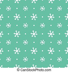 flying snowflakes pattern