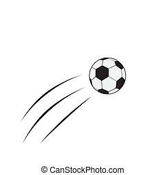 flying soccer ball