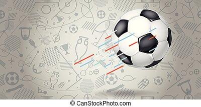 Flying soccer ball vector illustration