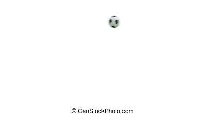 Flying soccer ball with alpha 3D render. 4K