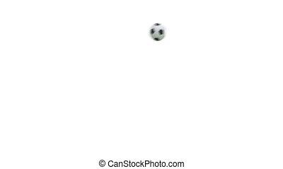 Flying soccer ball with alpha 3D render. Full HD