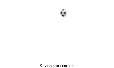 Flying soccer ball with alpha 3D render. Full HD video