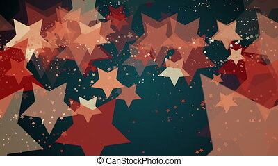 Flying stars in various colors