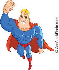 Flying super hero - Super hero flying