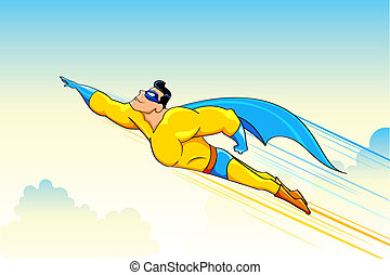 Flying Superhero