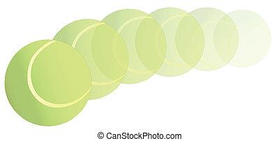 Flying Tennis Ball