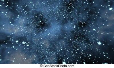 Flying Through a Star Field, Spinni - Flying through a star...