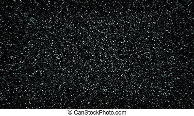 Flying Through Dense Star Field - Moving past masses of...