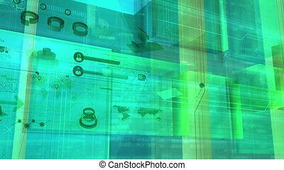 Flying through digital space - In three-dimensional digital...
